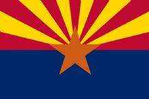 ARIZONA- MINI FLAG 22.5cm x 15cm